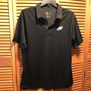 Nike NFL Onfield Eagles Black Polo Shirt